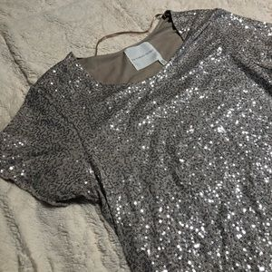 Gold sequins Victoria's Secret dress